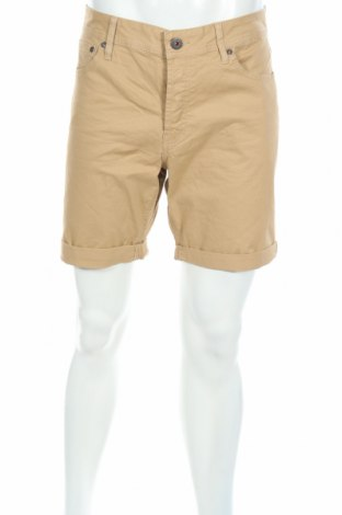 Pantaloni scurți de bărbați Jack & Jones, Mărime L, Culoare Bej, 98% bumbac, 2% elastan, Preț 38,69 Lei