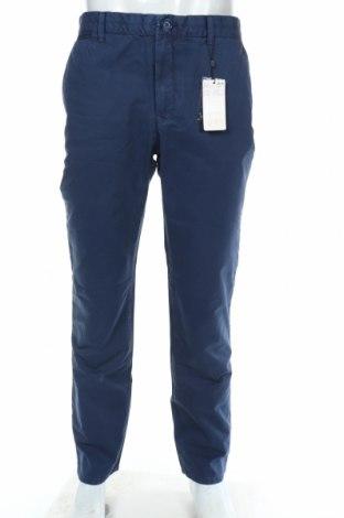 Мъжки панталон Mango, Размер M, Цвят Син, Памук, Цена 35,55лв.
