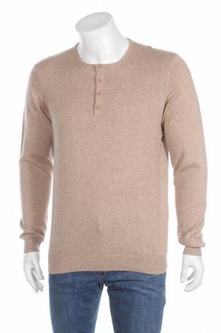 Ανδρικό πουλόβερ Bershka, Μέγεθος L, Χρώμα  Μπέζ, 100% βαμβάκι, Τιμή 21,44€