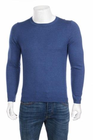 Ανδρικό πουλόβερ S.Oliver, Μέγεθος S, Χρώμα Μπλέ, 50% βαμβάκι, 50% μαλλί, Τιμή 45,88€