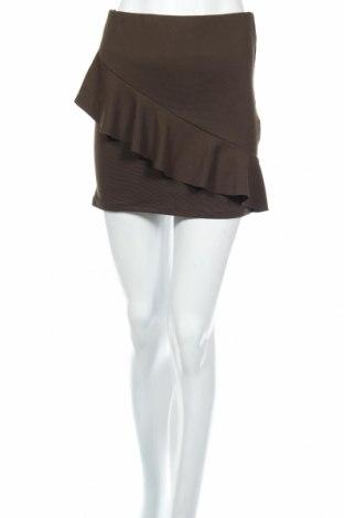Пола Zara Trafaluc, Размер S, Цвят Зелен, 98% полиестер, 2% еластан, Цена 38,00лв.