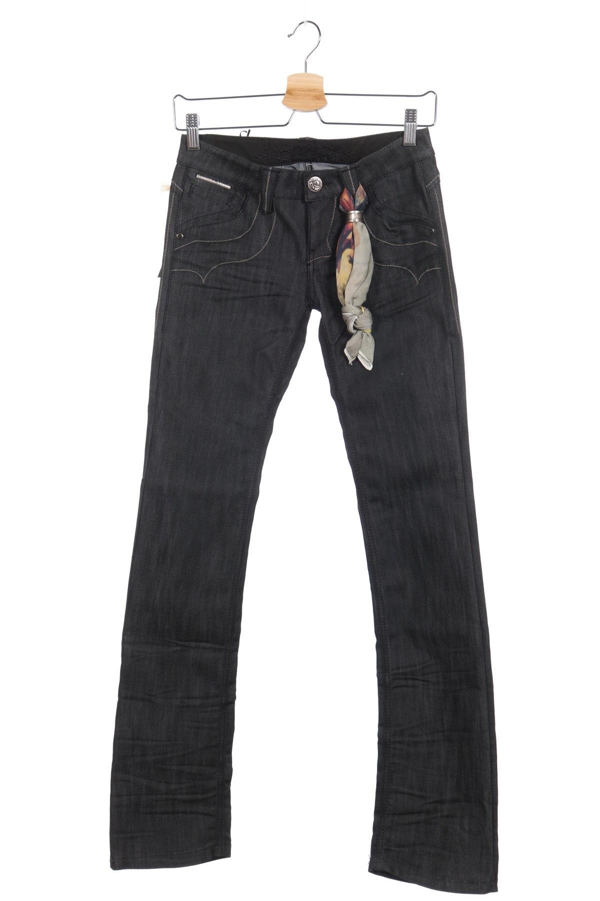 Дамски дънки Bandits Du Monde, Размер XS, Цвят Сив, 64% памук, 36% еластан, Цена 29,12лв.