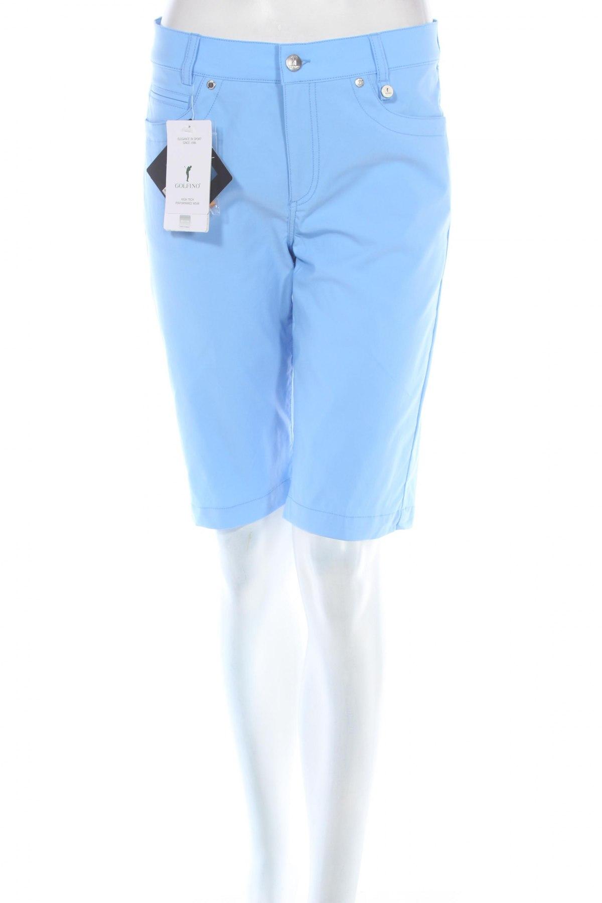Дамски къс панталон Golfino, Размер M, Цвят Син, 94% полиамид, 6% еластан, Цена 20,28лв.