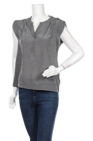 Дамска блуза Caroll, Размер M, Цвят Сив, 100% коприна, Цена 43,47лв.