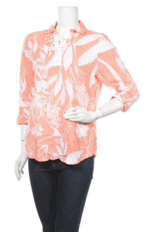 Дамска блуза Chico's, Размер M, Цвят Розов, 55% лен, 45% вискоза, Цена 22,68лв.