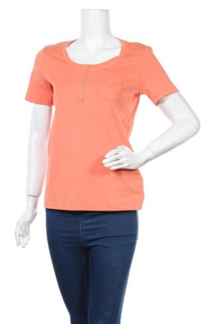 Дамска блуза G.W., Размер L, Цвят Оранжев, 98% памук, 2% еластан, Цена 13,65лв.