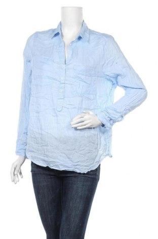 Дамска блуза H&M L.O.G.G., Размер L, Цвят Син, Памук, Цена 13,23лв.