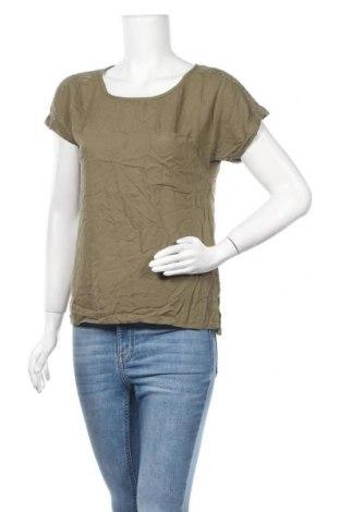 Дамска блуза H&M L.O.G.G., Размер M, Цвят Зелен, Вискоза, Цена 10,29лв.