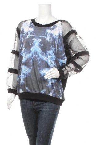 Дамска блуза Jcl, Размер M, Цвят Черен, Полиестер, памук, Цена 17,64лв.