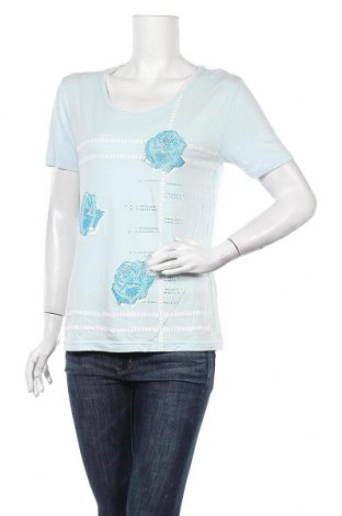 Дамска блуза Laura, Размер L, Цвят Син, 95% вискоза, 5% еластан, Цена 14,18лв.