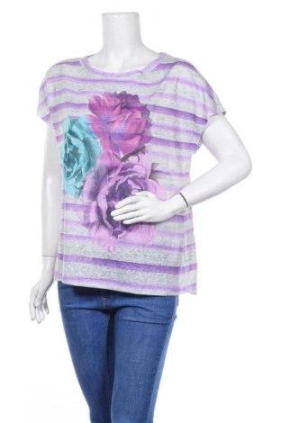 Дамска блуза Nicole Miller, Размер L, Цвят Сив, Полиестер, Цена 17,64лв.