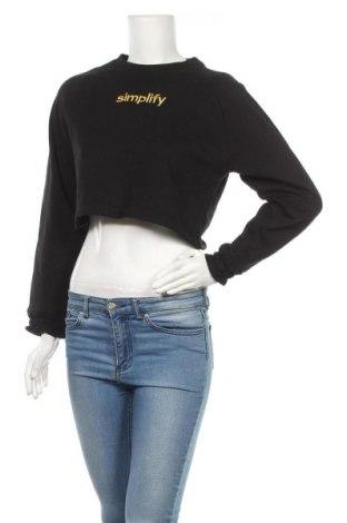 Дамска блуза Sinsay, Размер XS, Цвят Черен, 65% памук, 35% полиестер, Цена 10,40лв.