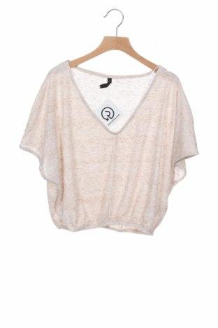 Дамска блуза Sinsay, Размер XS, Цвят Бежов, 90% полиестер, 10% лен, Цена 6,83лв.