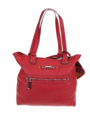 Γυναικεία τσάντα, Χρώμα Κόκκινο, Δερματίνη, Τιμή 27,28€