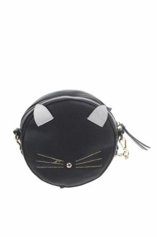 Дамска чанта Accessorize, Цвят Черен, Еко кожа, Цена 21,74лв.