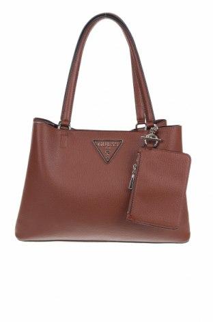 Γυναικεία τσάντα Guess, Χρώμα Καφέ, Δερματίνη, Τιμή 60,47€