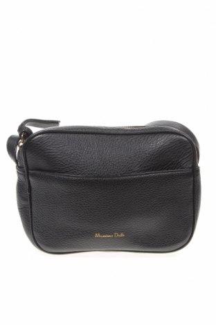 Γυναικεία τσάντα Massimo Dutti, Χρώμα Μαύρο, Γνήσιο δέρμα, Τιμή 50,05€