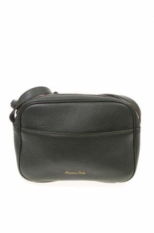 Дамска чанта Massimo Dutti, Цвят Зелен, Естествена кожа, Цена 60,42лв.