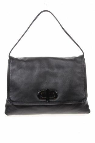 Дамска чанта Massimo Dutti, Цвят Черен, Естествена кожа, Цена 62,37лв.