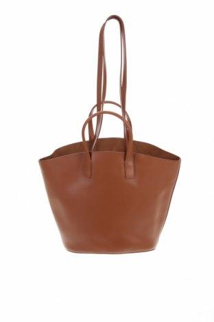 Γυναικεία τσάντα Massimo Dutti, Χρώμα Καφέ, Γνήσιο δέρμα, Τιμή 41,31€