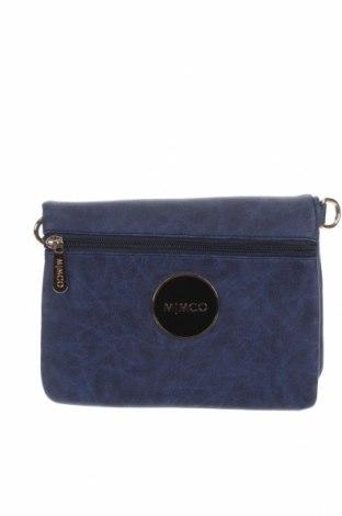 Γυναικεία τσάντα Mimco, Χρώμα Μπλέ, Δερματίνη, Τιμή 16,37€