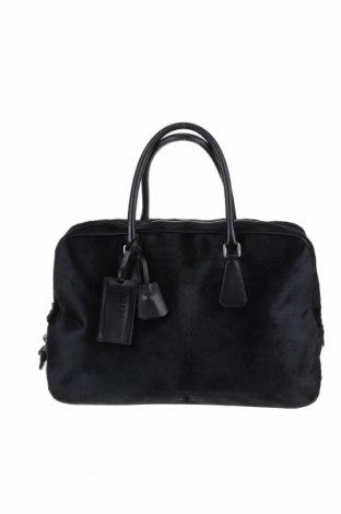 Γυναικεία τσάντα Prada, Χρώμα Μαύρο, Φυσική τρίχα, γνήσιο δέρμα, Τιμή 518,66€