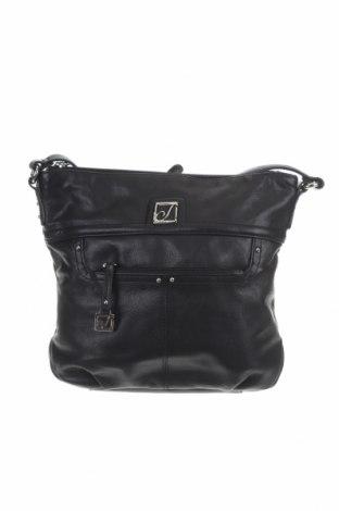 Γυναικεία τσάντα Stone Mountain, Χρώμα Μαύρο, Γνήσιο δέρμα, Τιμή 23,64€
