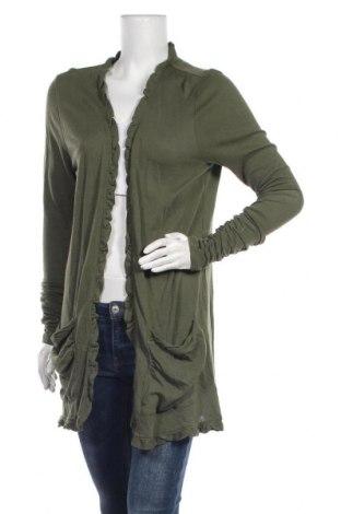 Дамска жилетка Adrienne Vittadini, Размер XL, Цвят Зелен, 60% памук, 40% вискоза, Цена 29,40лв.