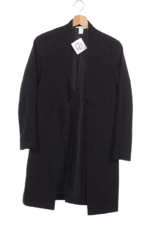 Дамска жилетка H&M, Размер XS, Цвят Черен, 63% полиестер, 33% вискоза, 4% еластан, Цена 20,48лв.
