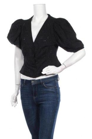 Дамска риза H&M, Размер M, Цвят Черен, 98% памук, 2% еластан, Цена 5,54лв.