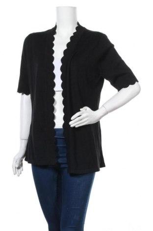 Дамска жилетка Isaac Mizrahi, Размер M, Цвят Черен, 60% памук, 40% вискоза, Цена 10,24лв.