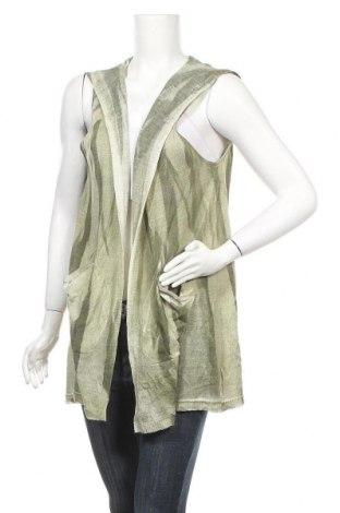 Дамска жилетка Morgan Marks, Размер L, Цвят Зелен, 70% акрил, 30% вълна, Цена 17,85лв.