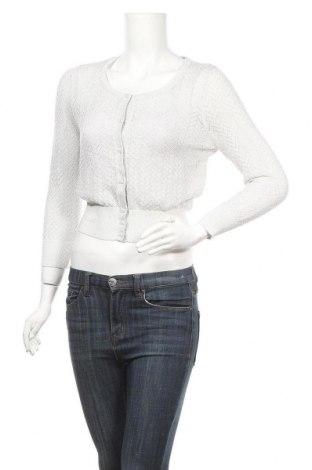 Дамска жилетка Review, Размер M, Цвят Сребрист, 45% вискоза, 30% памук, 18% полиестер, 7% метални нишки, Цена 8,51лв.
