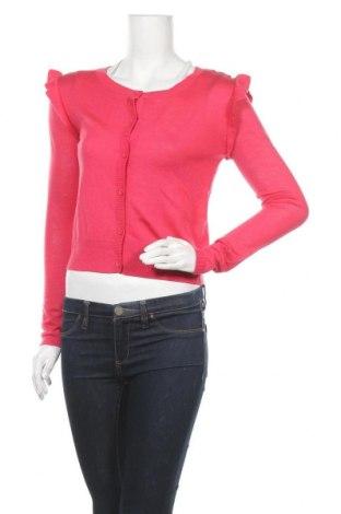 Дамска жилетка Teddy Smith, Размер S, Цвят Розов, 40% модал, 30% полиестер, 20% акрил, 10% вълна, Цена 17,25лв.