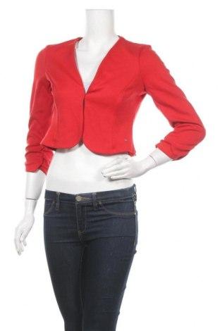 Дамска жилетка Tom Tailor, Размер S, Цвят Червен, 69% вискоза, 9% полиестер, 2% еластан, Цена 51,75лв.