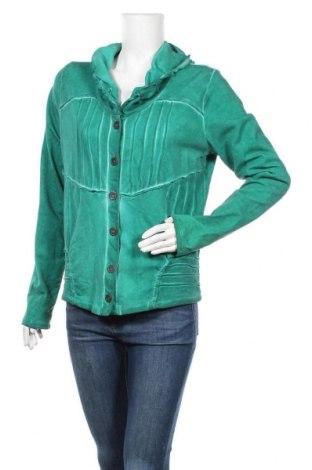 Дамска жилетка Yest, Размер S, Цвят Зелен, 94% памук, 6% еластан, Цена 6,04лв.