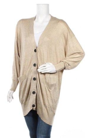 Дамска жилетка Zara Knitwear, Размер S, Цвят Бежов, 46% акрил, 45% вискоза, 9% полиамид, Цена 8,93лв.