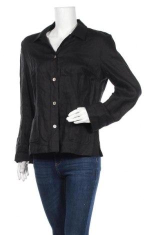 Дамска риза Apriori, Размер XL, Цвят Черен, Лен, Цена 7,56лв.