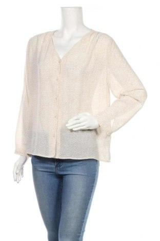 Дамска риза H&M, Размер M, Цвят Бежов, Полиестер, Цена 13,25лв.