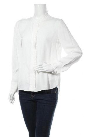 Дамска риза Massimo Dutti, Размер M, Цвят Бял, Вискоза, Цена 25,20лв.
