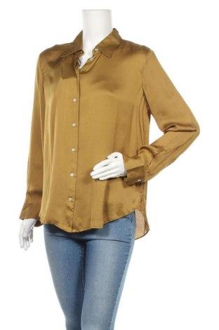 Γυναικείο πουκάμισο Massimo Dutti, Μέγεθος L, Χρώμα Πράσινο, 75% βισκόζη, 25% lyocell, Τιμή 13,71€