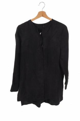 Γυναικείο πουκάμισο Massimo Dutti, Μέγεθος XS, Χρώμα Μαύρο, 58% χαλκαμμωνία, 42% βισκόζη, Τιμή 14,84€