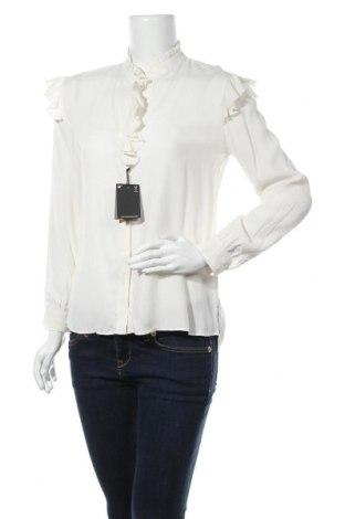 Дамска риза Massimo Dutti, Размер XS, Цвят Екрю, Вискоза, Цена 38,27лв.