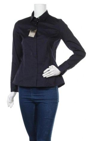 Дамска риза Massimo Dutti, Размер M, Цвят Син, 78% памук, 18% полиамид, 4% еластан, Цена 26,07лв.