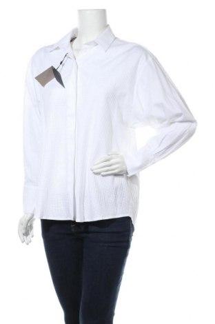 Дамска риза Massimo Dutti, Размер S, Цвят Бял, Памук, Цена 33,82лв.