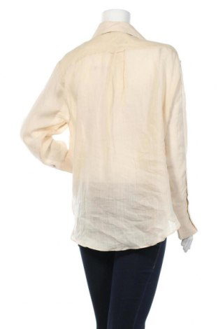 Дамска риза Massimo Dutti, Размер L, Цвят Бежов, Рамия, Цена 66,75лв.