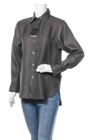 Дамска риза Massimo Dutti, Размер M, Цвят Сив, Вискоза, Цена 38,40лв.
