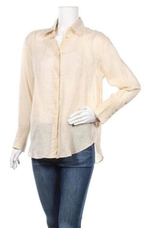 Дамска риза Massimo Dutti, Размер M, Цвят Бежов, Рамия, Цена 63,00лв.