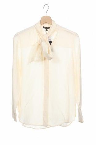 Дамска риза Massimo Dutti, Размер XS, Цвят Екрю, Вискоза, Цена 33,82лв.