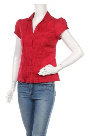 Дамска риза Monsoon, Размер S, Цвят Червен, Памук, Цена 12,65лв.